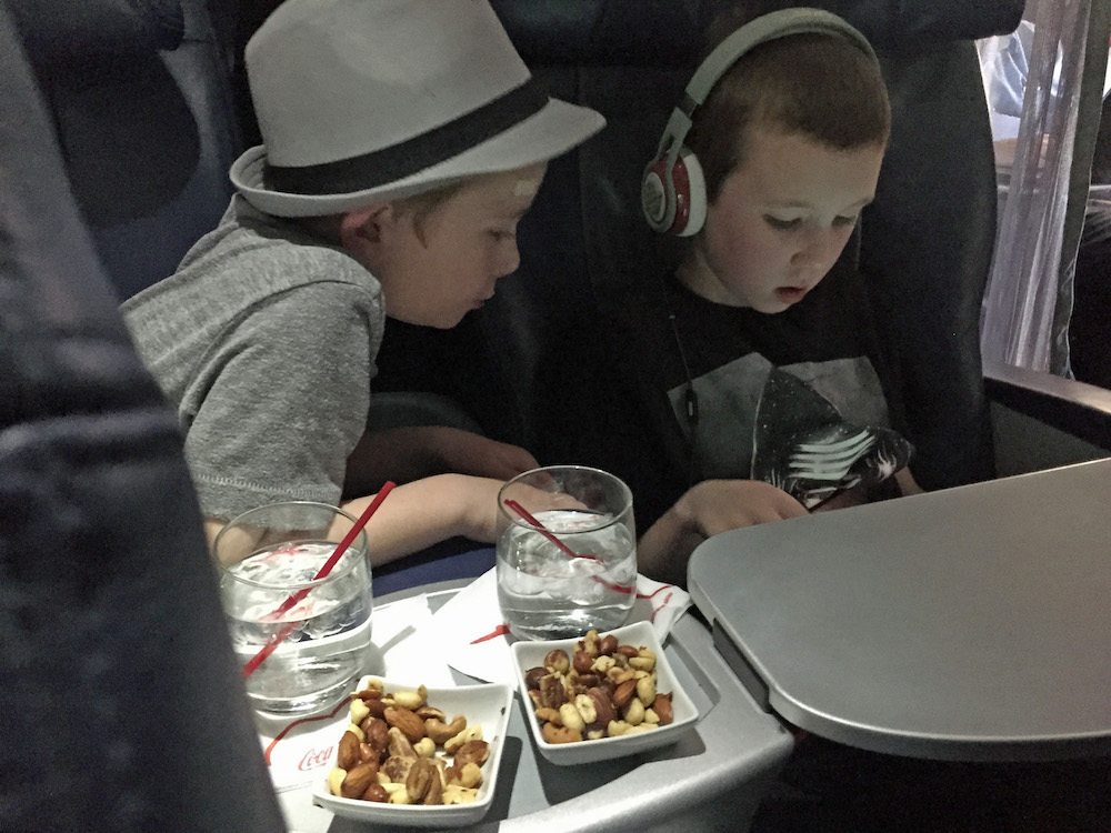Extra room to play in first class