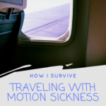 Traveling With Motion Sickness