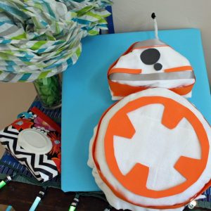 BB-8 Diaper Cake Tutorial