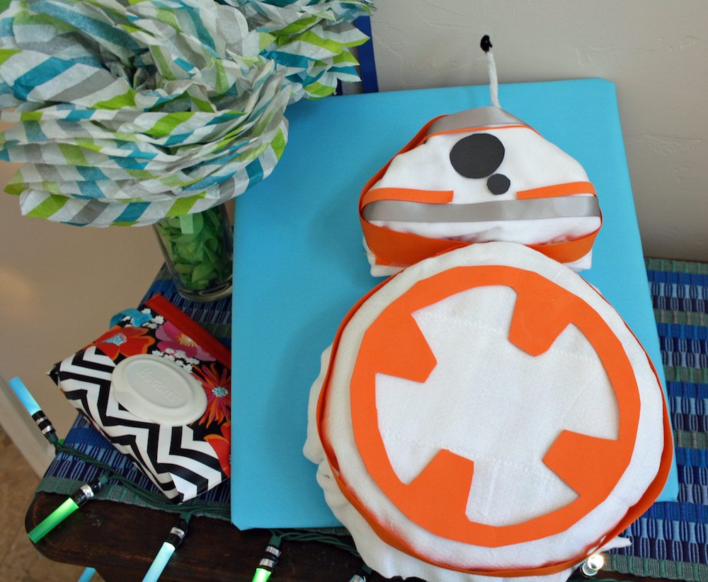 How to make an easy BB-8 Diaper Cake
