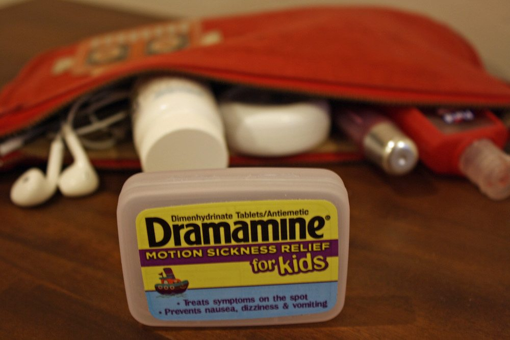 I always bring Dramamine for Kids