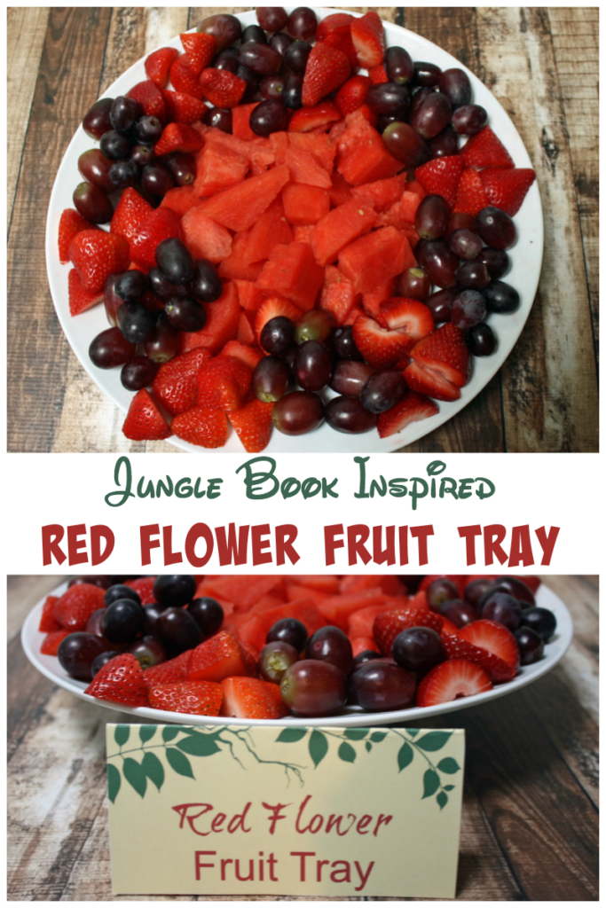 Jungle Book Inspired Red Flower Fruit Tray