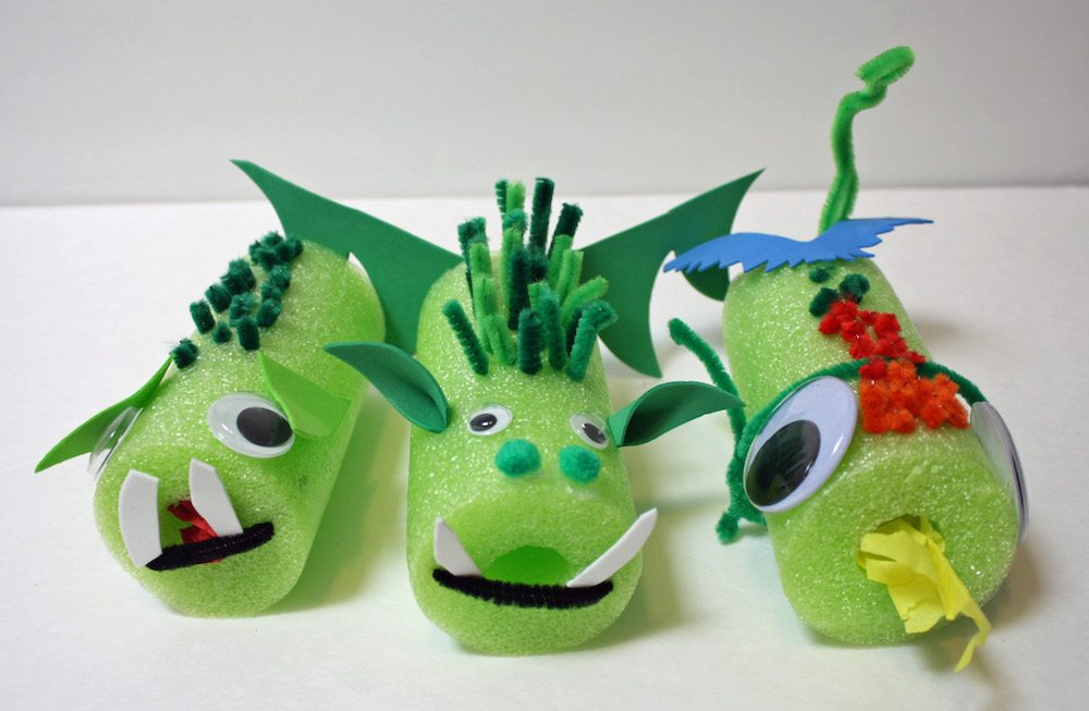 Make your own Pete's Dragon easy Dragon Craft