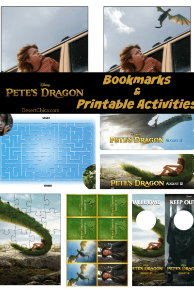 Pete's Dragon Bookmarks and Activities