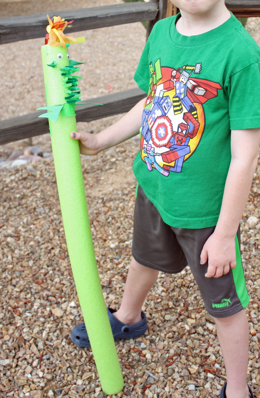 Make your own Stick Horse Dragon with this Pete's Dragon Stick Horse