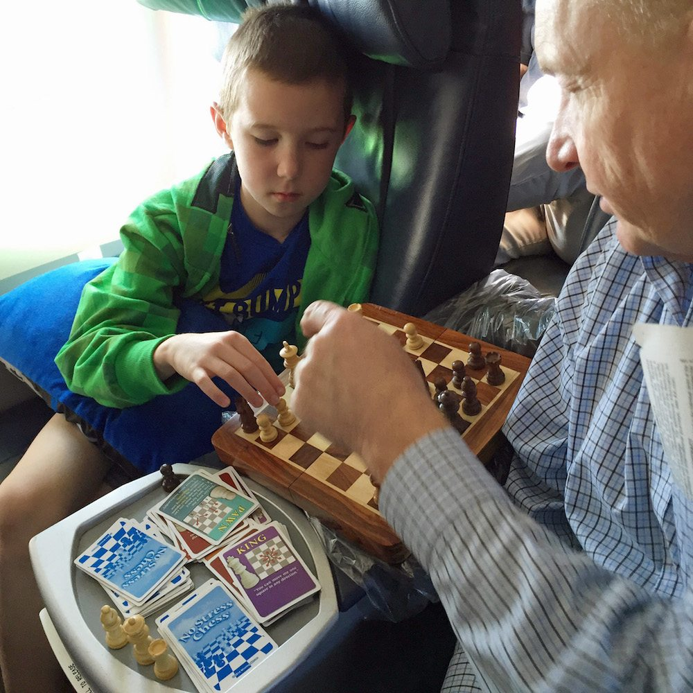 Playing Chess in first class