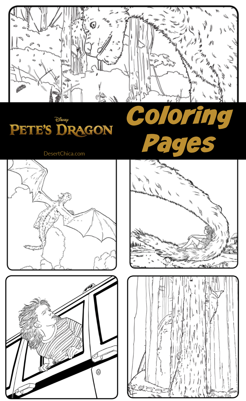 pete dragon coloring pages Pete's Dragon Coloring Pages | Desert Chica pete dragon coloring pages