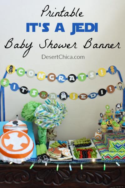 Jedi Baby Shower Banner