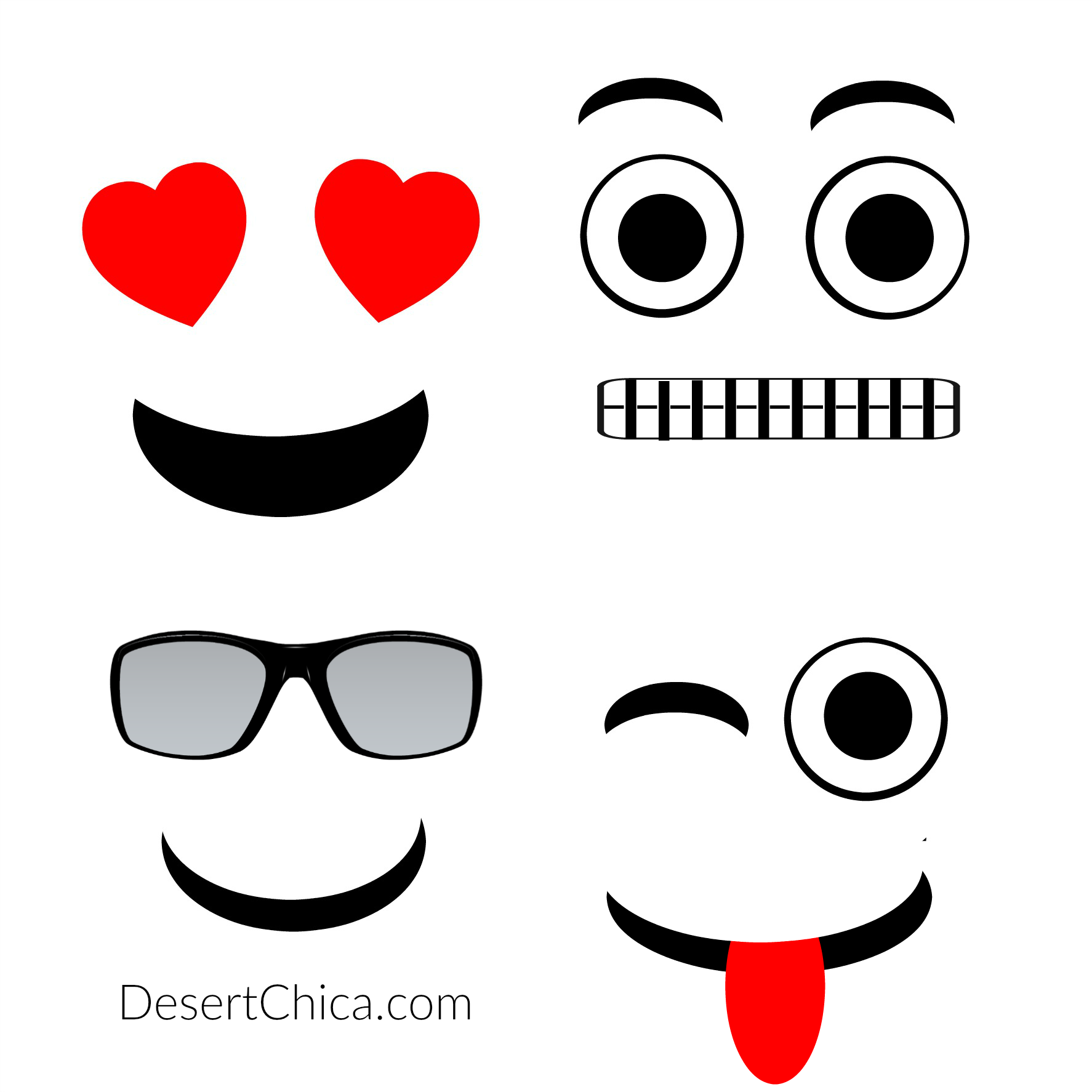 graphic regarding Free Printable Emojis identify Do-it-yourself Emoji Oranges Desert Chica