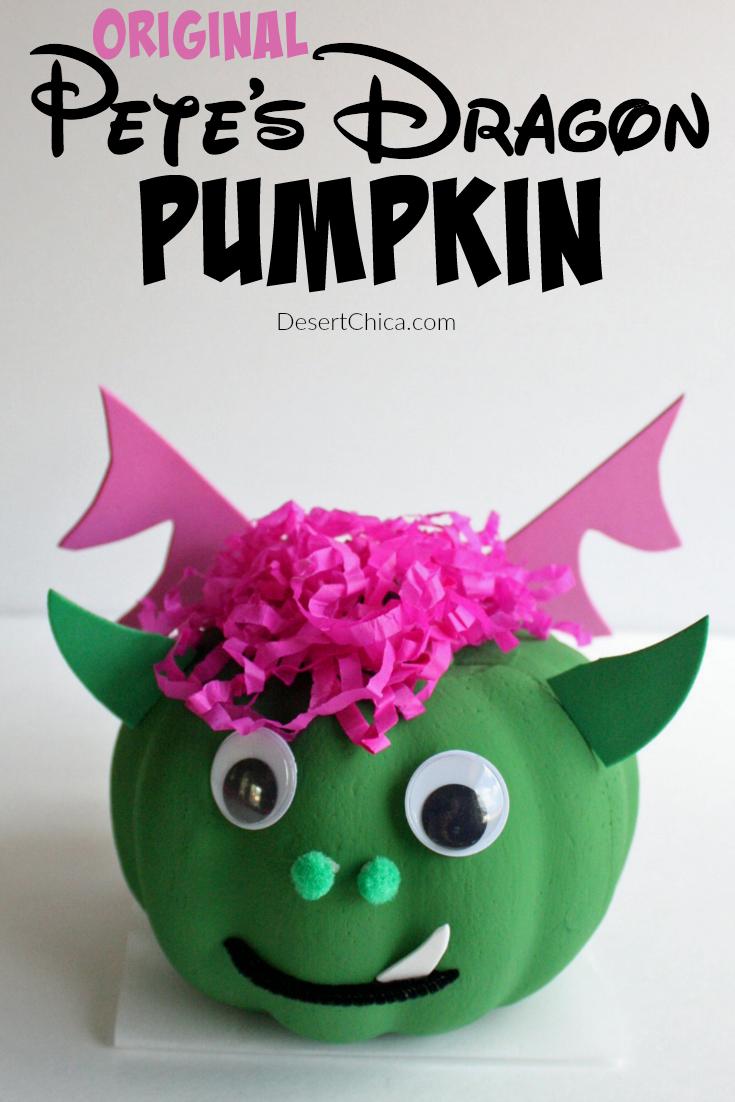 DIY Original Pete's Dragon Pumpkin