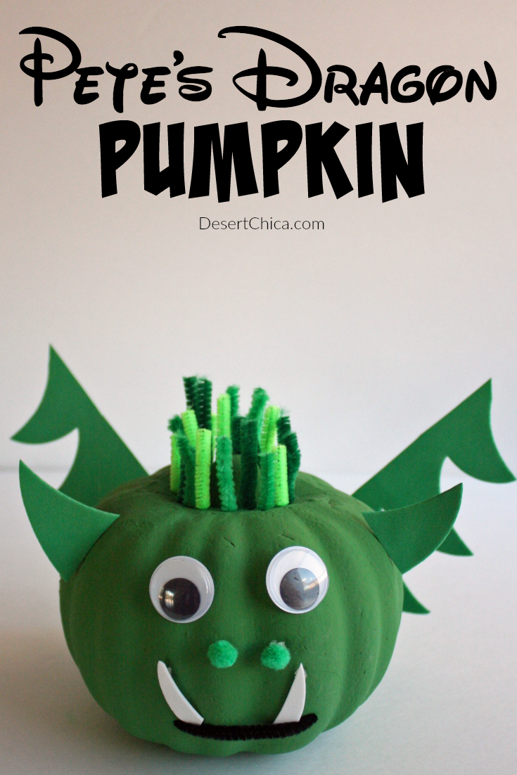 DIY Pete's Dragon Pumpkin