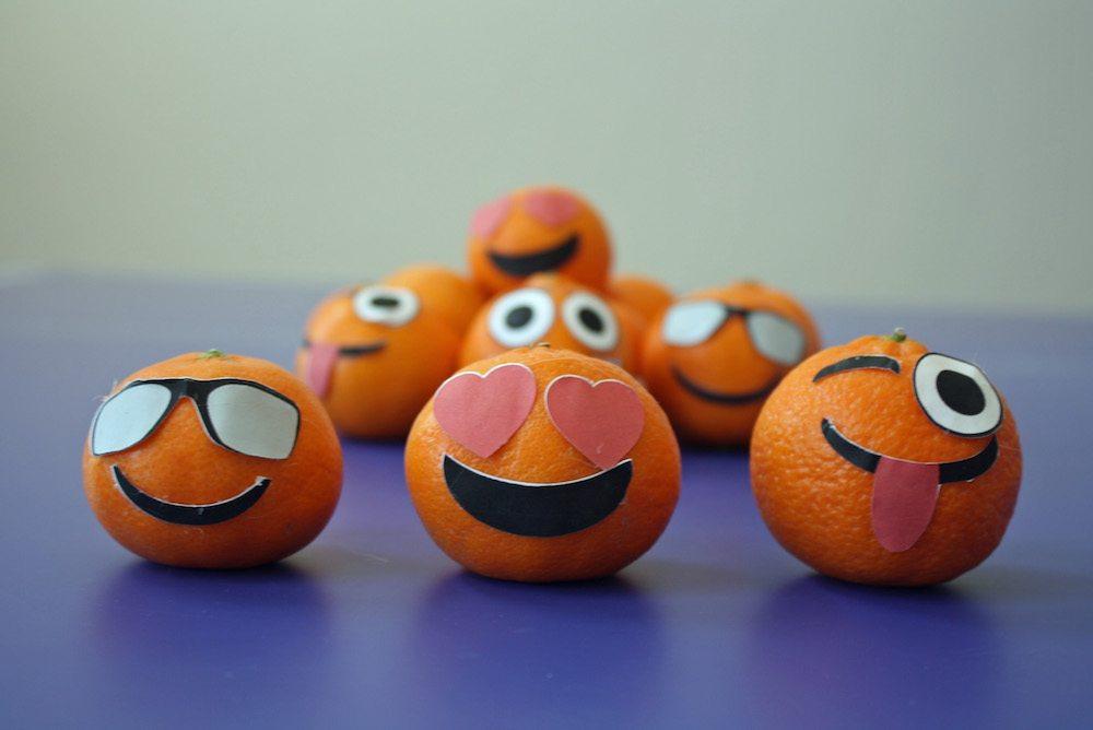 Fun School lunch idea DIY Emoji Orange