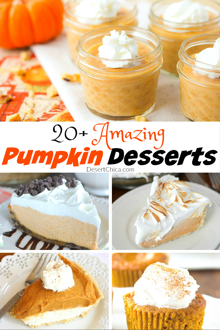 Between Halloween and Thanksgiving, there are plenty of opportunities to enjoy some amazing pumpkin desserts, check these 25 yummy recipes!