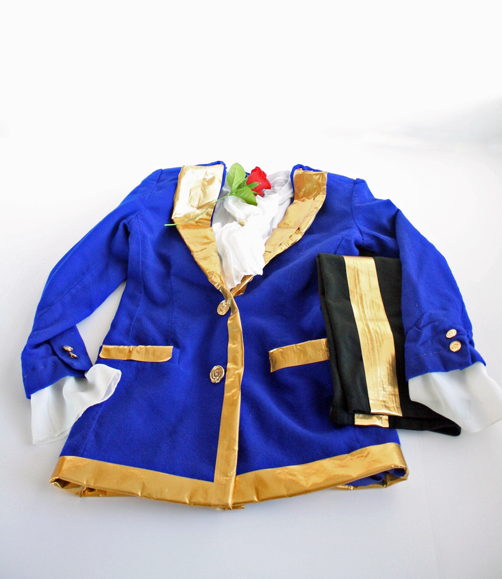 Beauty and the Beast might be a fun costume theme with Disney's latest live action movie arriving soon. Check out this easy DIY Beast costume. Start with a blue blazer and gold duct tape and you are almost done!