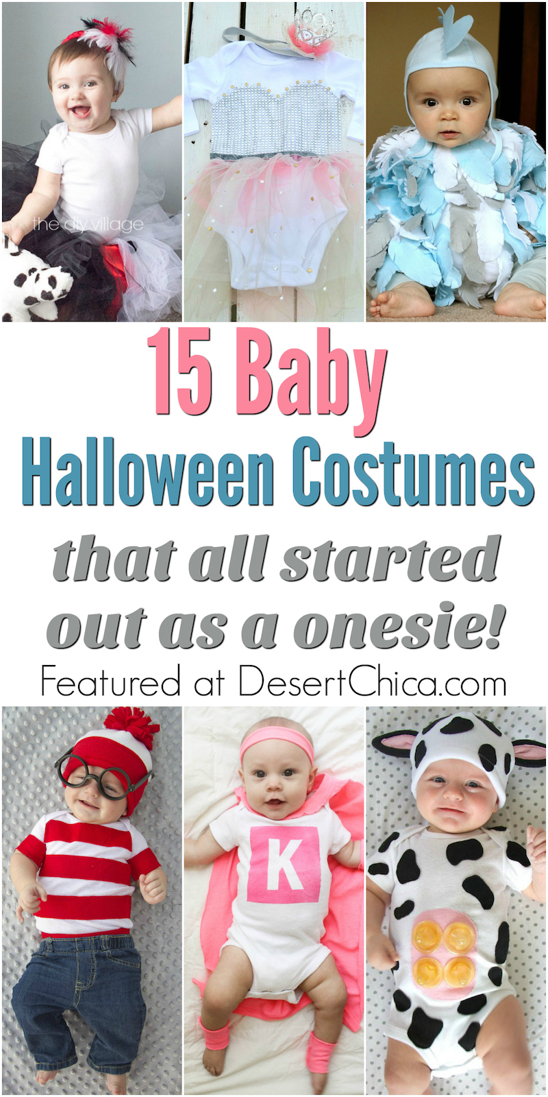 Every awesome costume starts with a great base, for a baby, a onesie makes the most sense for DIY Halloween costume ideas. Check out all these adorable onesie costumes for babies