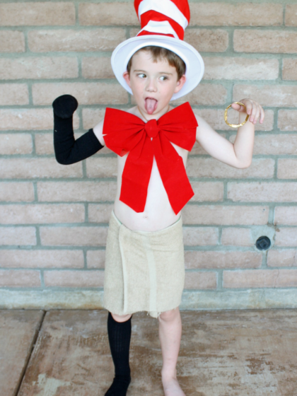 Lord of the hat from the creature in my closet book character series is a fun book character costume idea for students