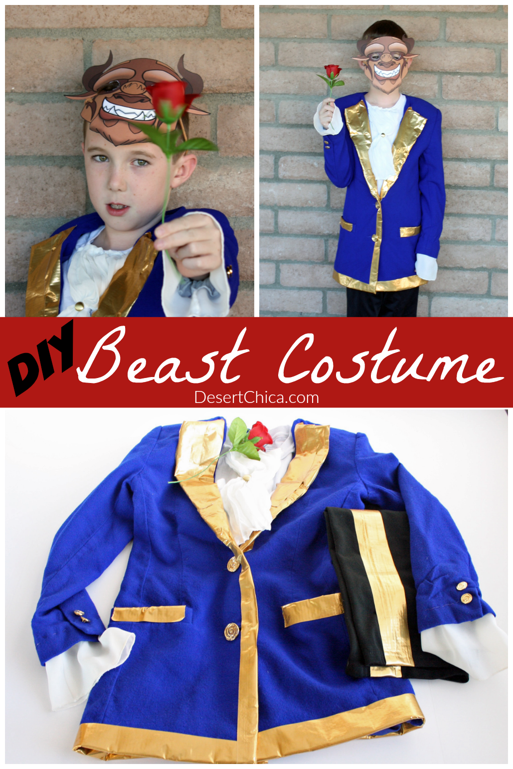 Diy beast costume desert chica beauty and the beast might be a fun costume theme with disneys latest live action movie solutioingenieria Image collections