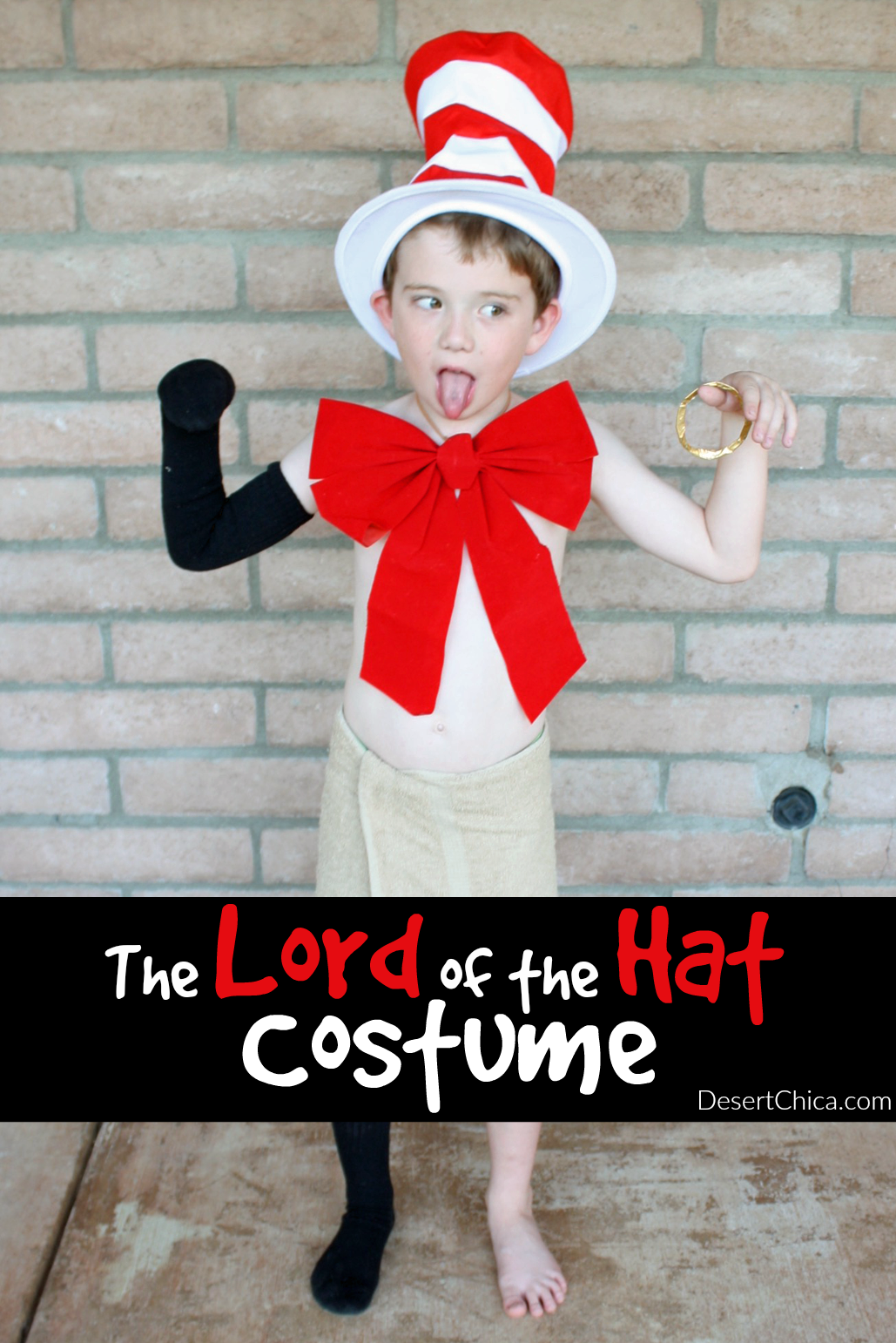 The Lord of the Hat is crazy mixed up character in the Creature From My Closet Book Series. The Lord of the Hat costume is part Gollum and part Cat in the Hat