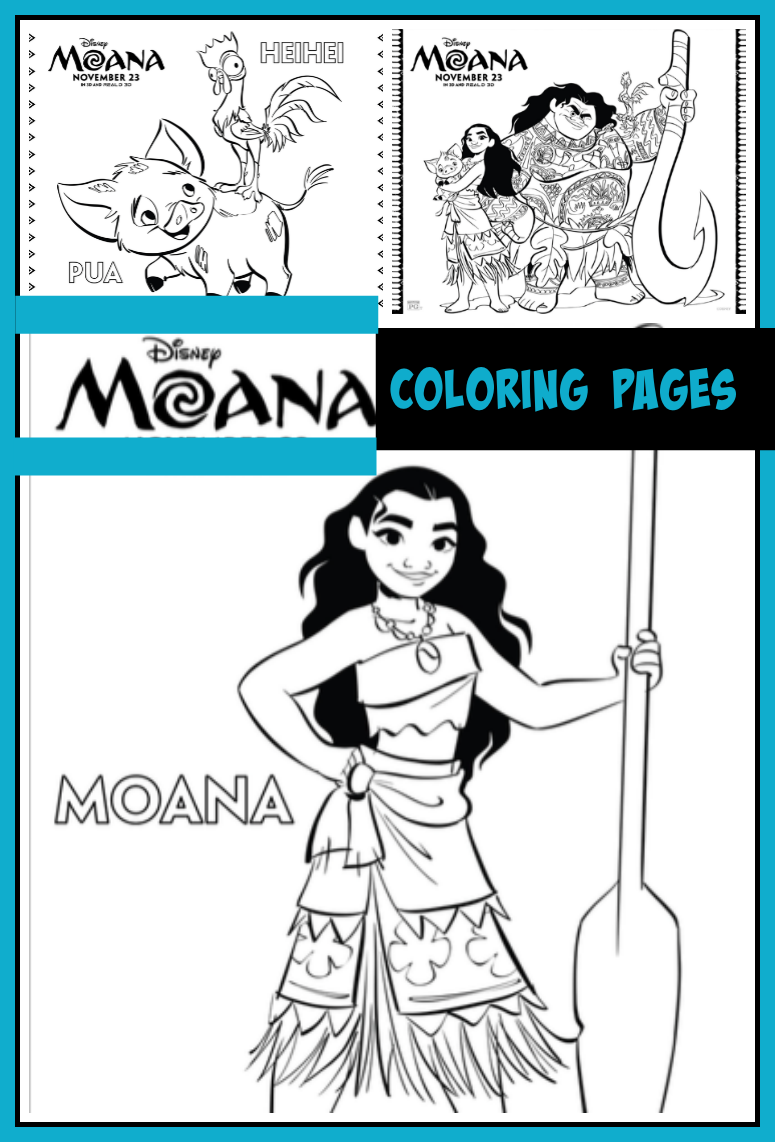 Can't wait to meet Moana and Maui in the newest Disney film? Print up these fun Moana coloring pages to help bide the time until it hits theaters on November 23rd.