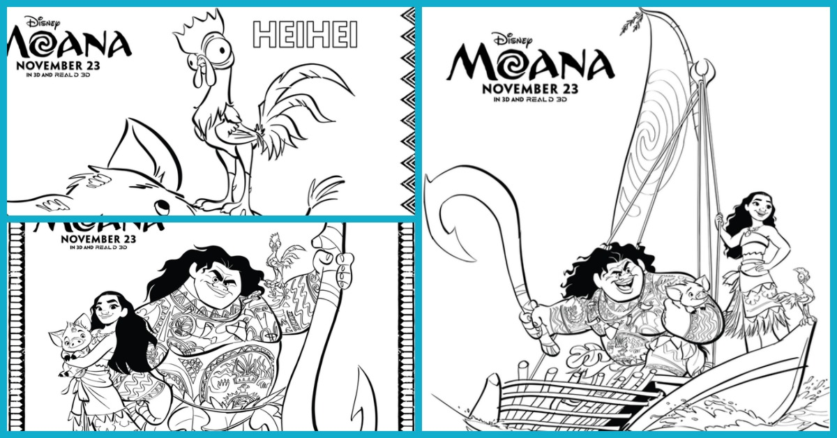 moana coloring pages - Coloring Page Moana