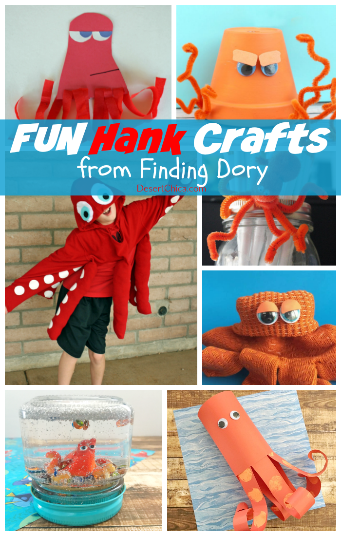 Celebrate the release of Finding Dory with these awesome Hank Crafts, you know he's your favorite finding dory character