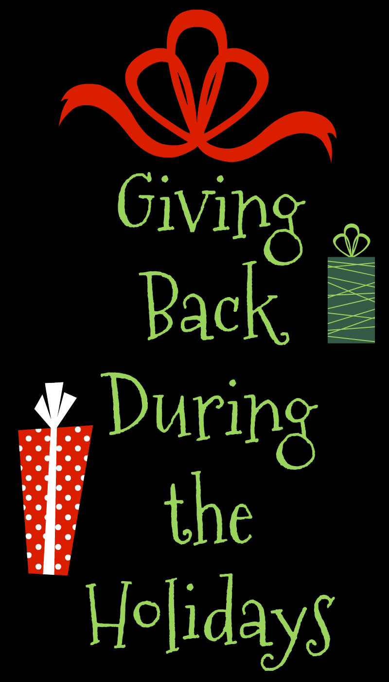For us giving back during the holidays means buying gifts for kids. There are other ways to help families in need that doesn't cost a cent.