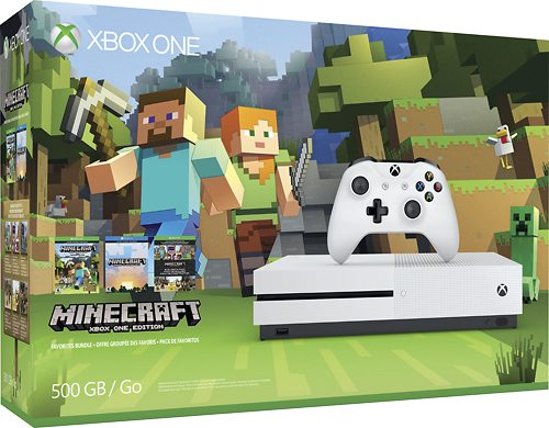 Merry Minecraft Christmas XBOX One S Bundle