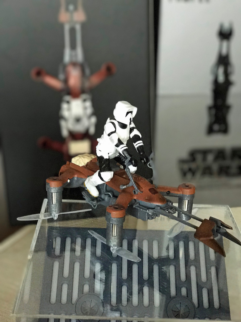 A new Star Wars Battle Drone: 74-Z Speeder Bike would make an awesome Star Wars gift for the super fan in your life!