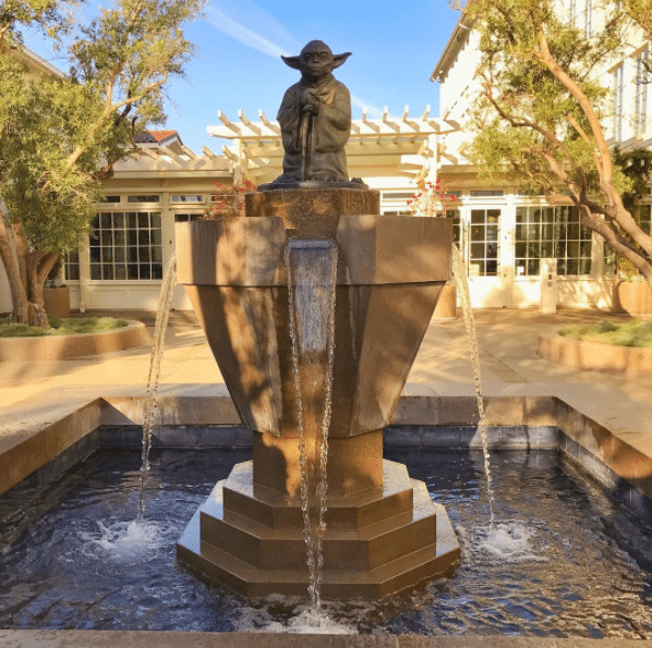 Yoda Statue during Lucasfilm Tour