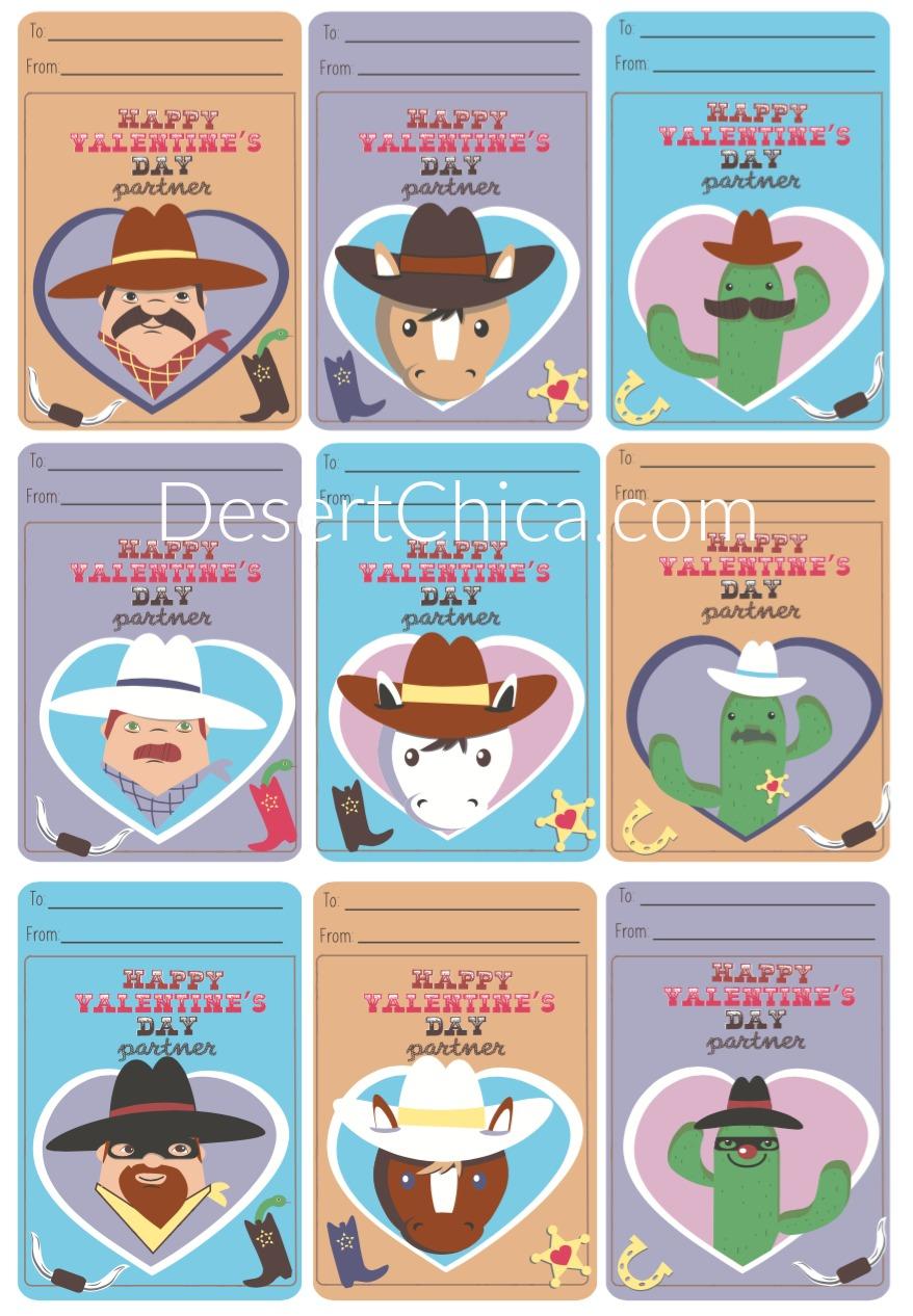 Printable Cowboy Valentines