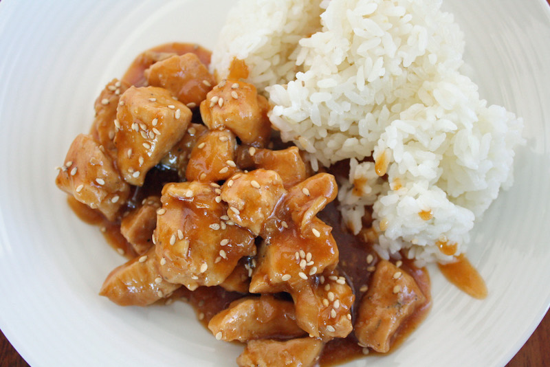 How to make easy instant post sesame chicken