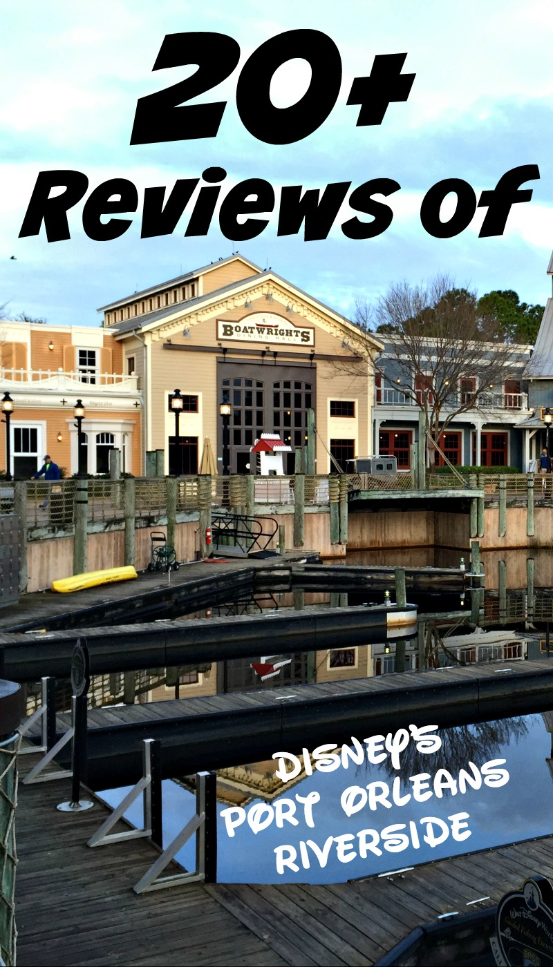 Over 20 reviews of Disney's Port Orleans Riverside at Walt Disney World.