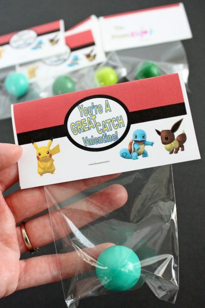 Pokemon Bouncy Ball Valentines