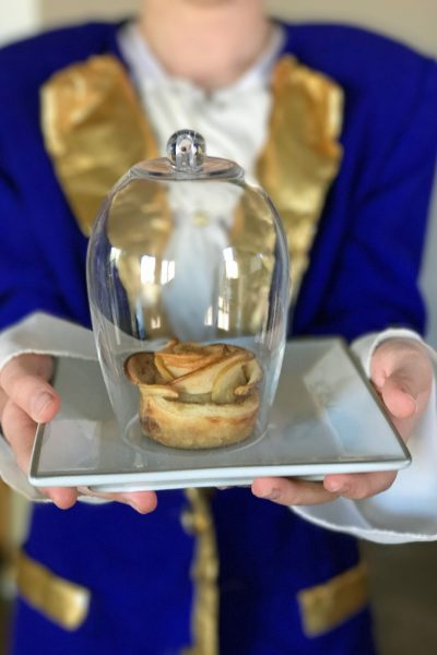 Beauty and the Beast Inspired Enchanted Rose Apple Tarts