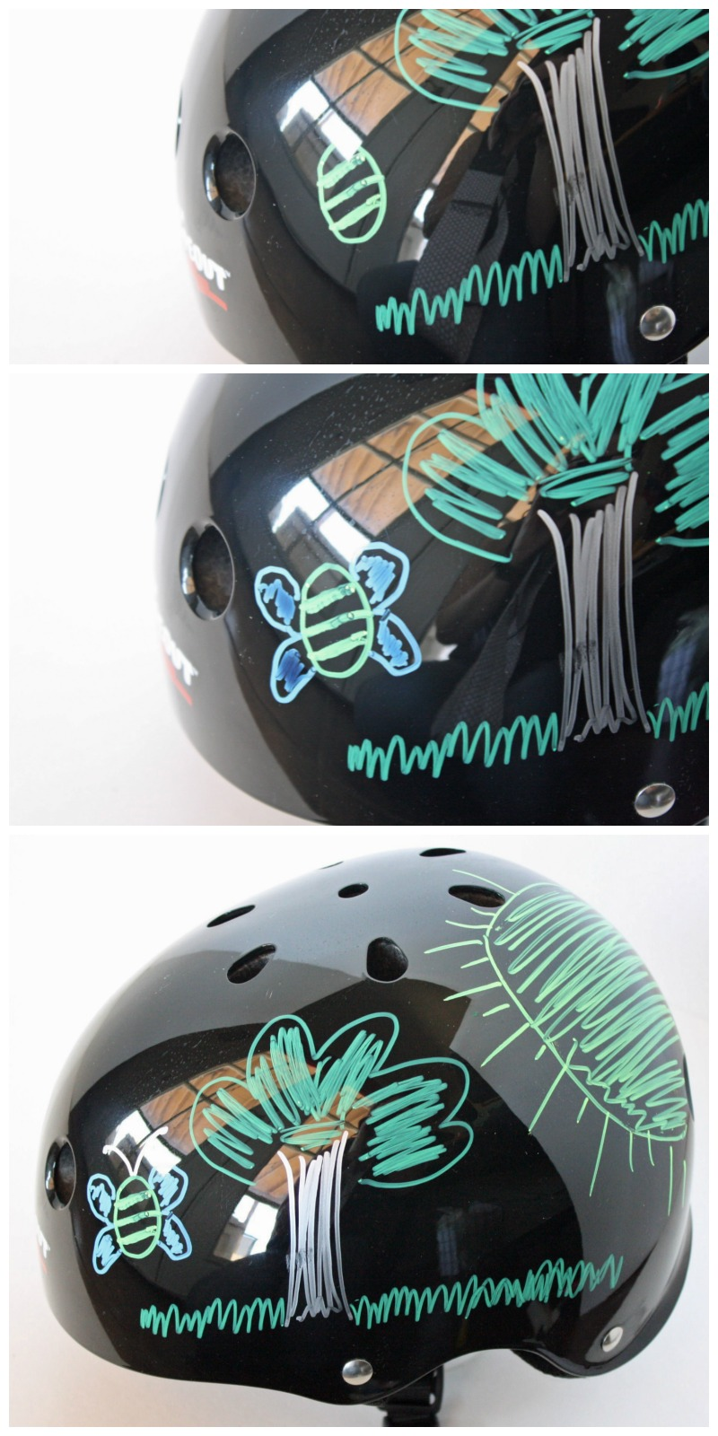 These adorable DIY bike helmets for kids are a surefire way to get your kids to wear bike helmets. They can create their own cool design again and again.