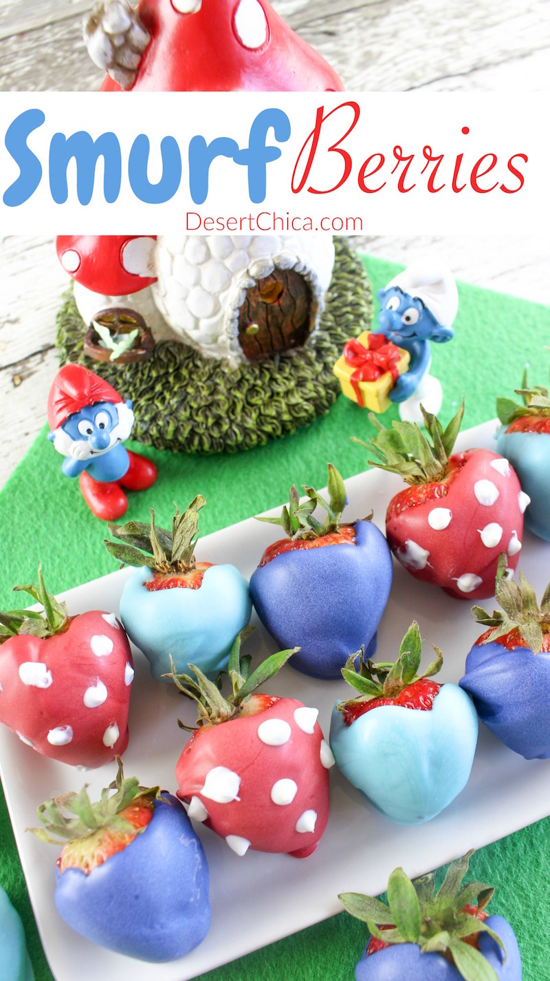 Ready to celebrate the latest Smurfs movie with a fun recipe? How about making your own smurfberries! This smurfberry idea is perfect for a Smurf party too!