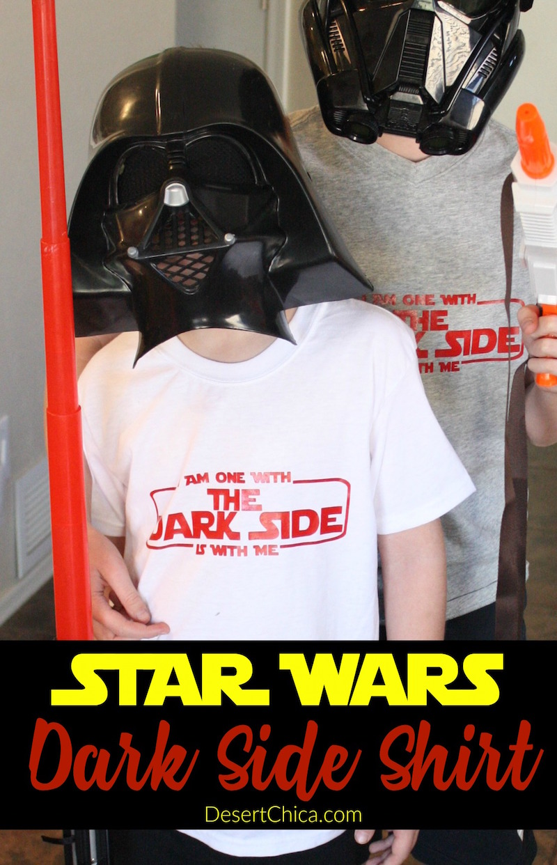 I've got the perfect design for Empire fans to show their love for the dark side, make your own dark side star wars shirt for May the 4th Be With You!
