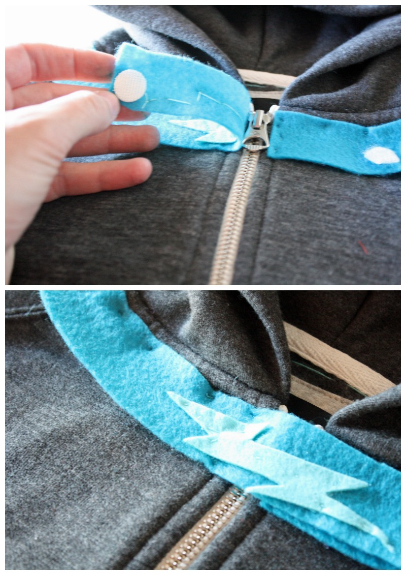 Adding the lightning collar to a Puppy Dog Pals Costume