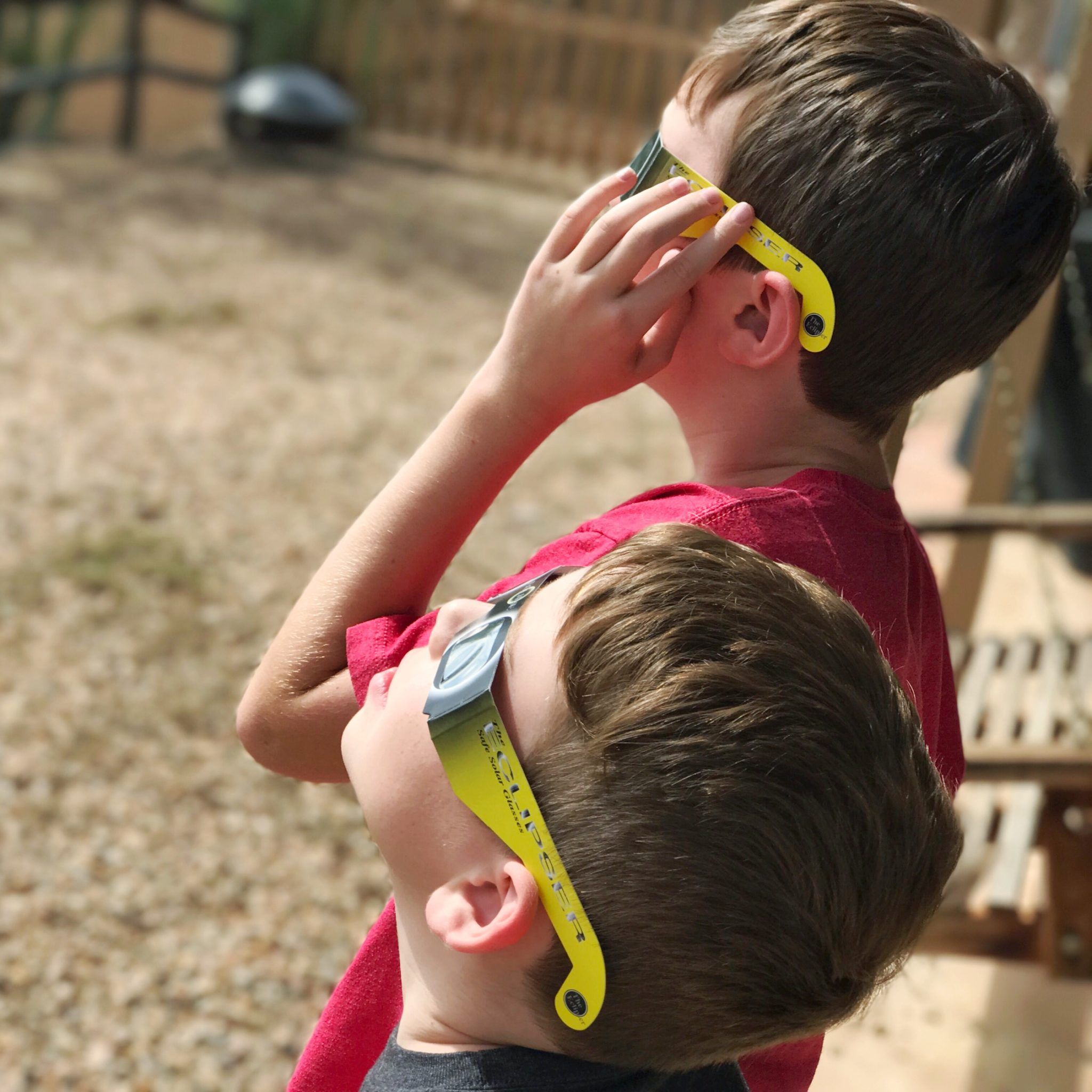 Prepping for Solar Eclipse with protective solar glasses
