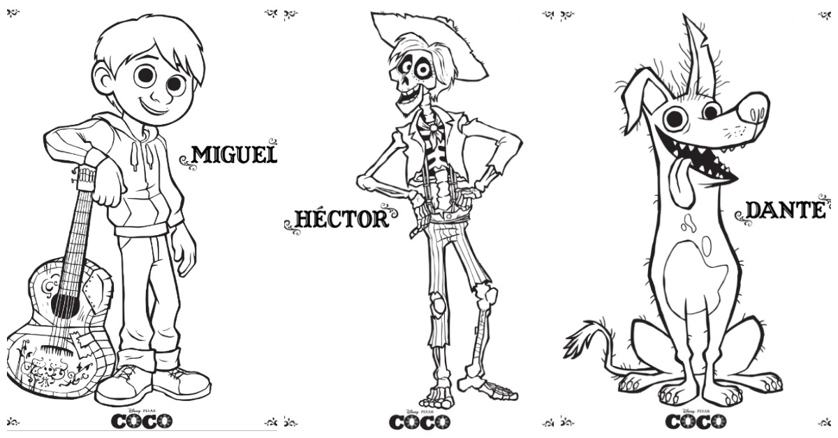 coco coloring pages desert chica