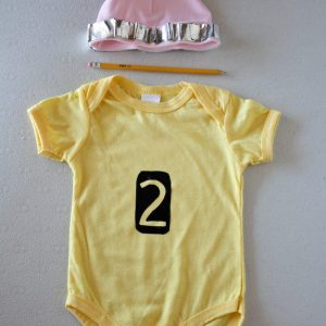 DIY Pencil Onesie | Baby Halloween Costume for under $5