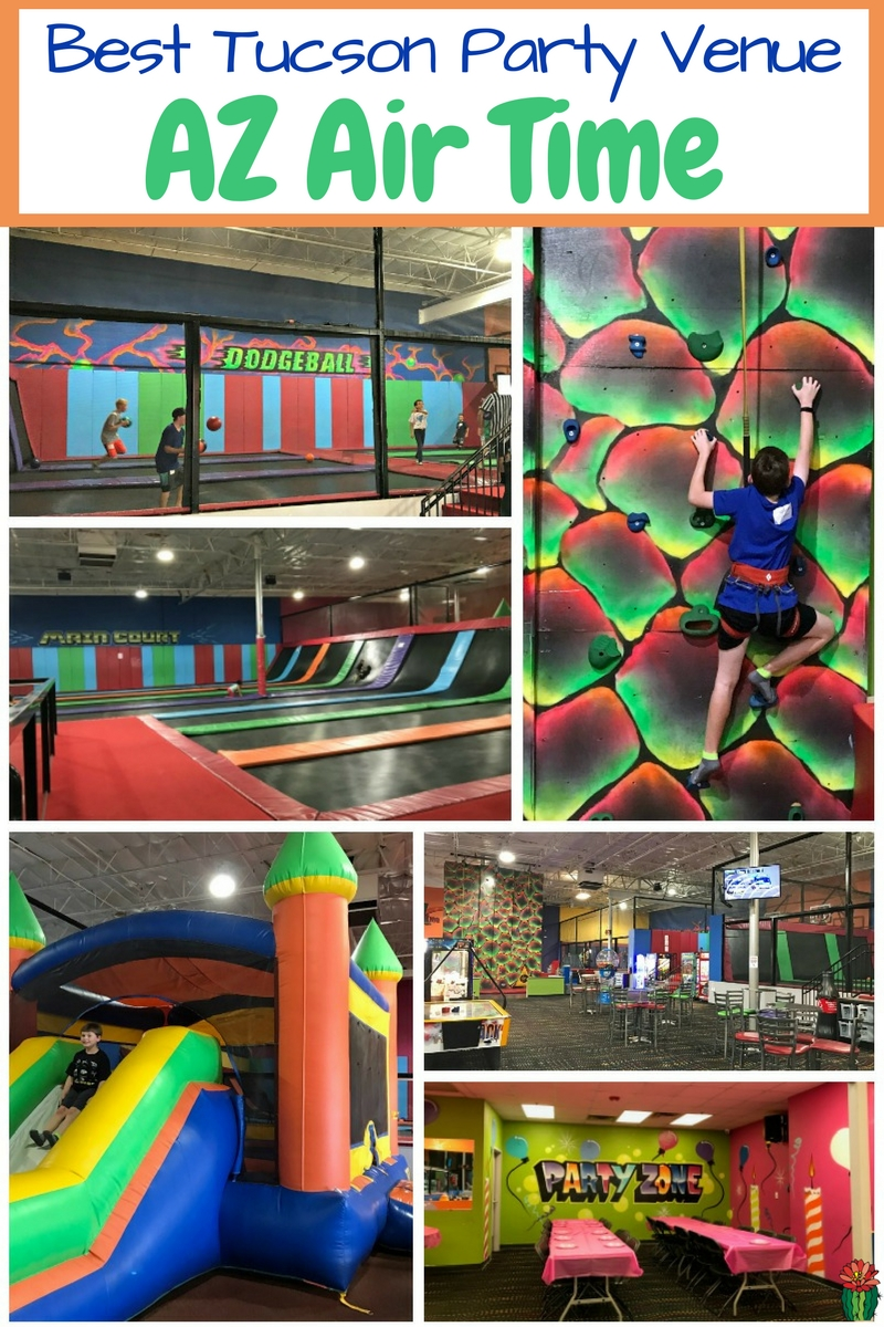 AZ Air Time Tucson is the best Tucson birthday party venue. They offer plenty of ways for preschoolers to teens to jump themselves silly after eating cake!