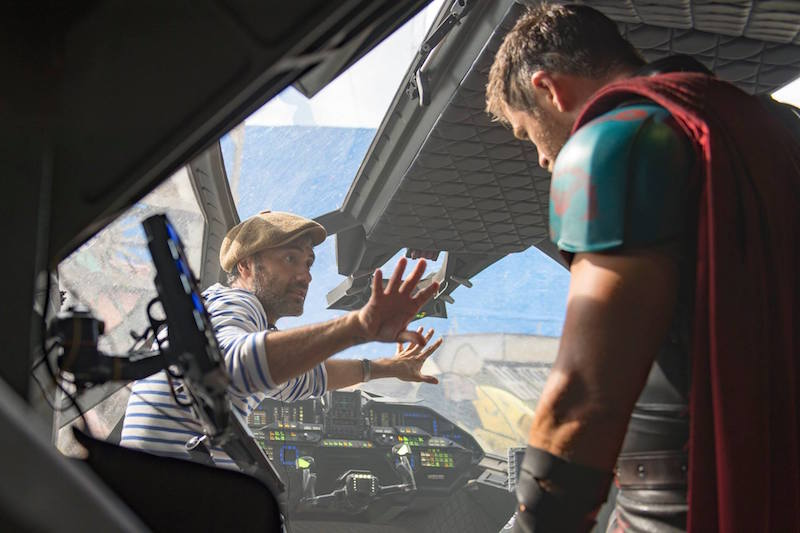 Director Taika with Hemsworth on Thor Ragnarok