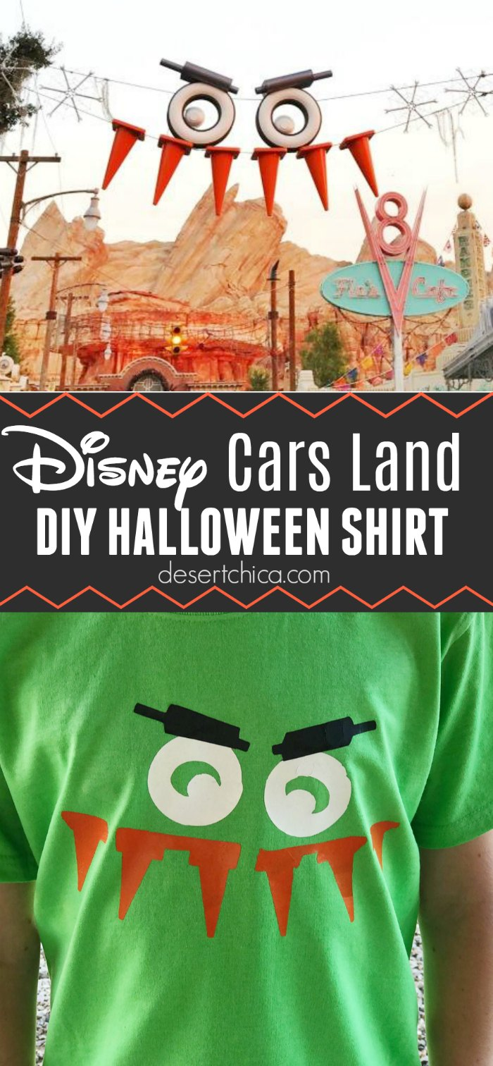 Disney Cars Land Shirt for Halloween with free file download