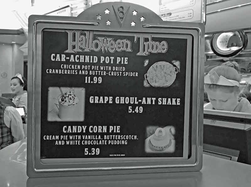 Halloween Time at Disneyland Haul-O-Ween Food at Flo's V8