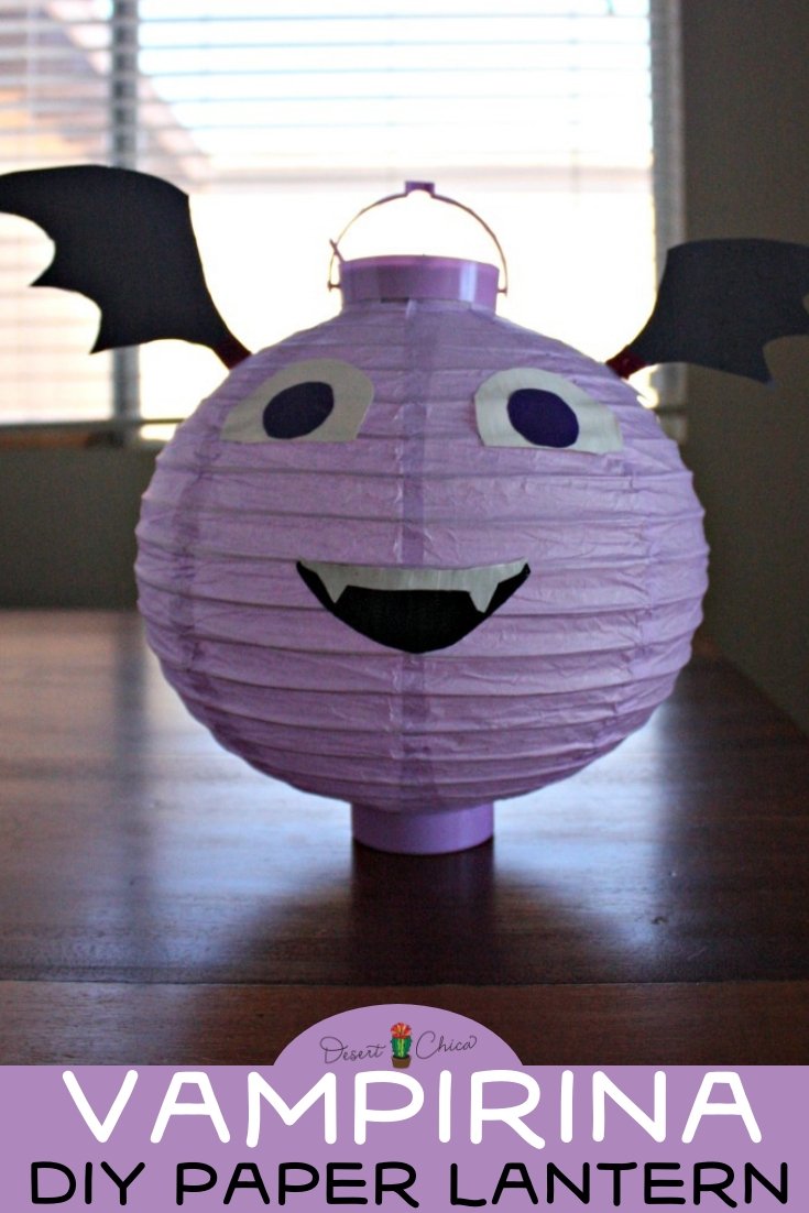 Don't miss the easiest and cutest Vampirina birthday party decoration idea with this Disney Junior Vampirina paper lantern. It's an easy DIY craft that would also be fun as decor in your little girl's bedroom after her Disney bat-themed fiesta! Girl Birthday Party Ideas | Disney Crafts | Birthday Party Crafts | Bat Crafts for Kids