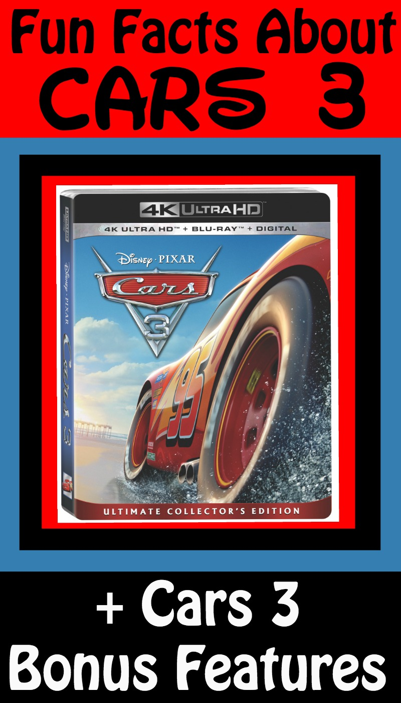 Cars 3 Bonus Features