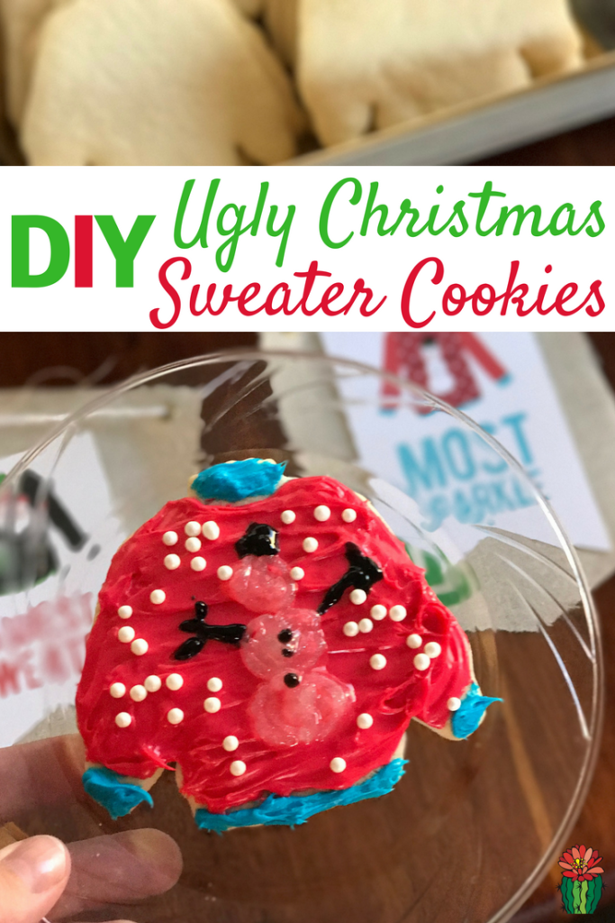 DIY Ugly Christmas Sweater Cookie Party