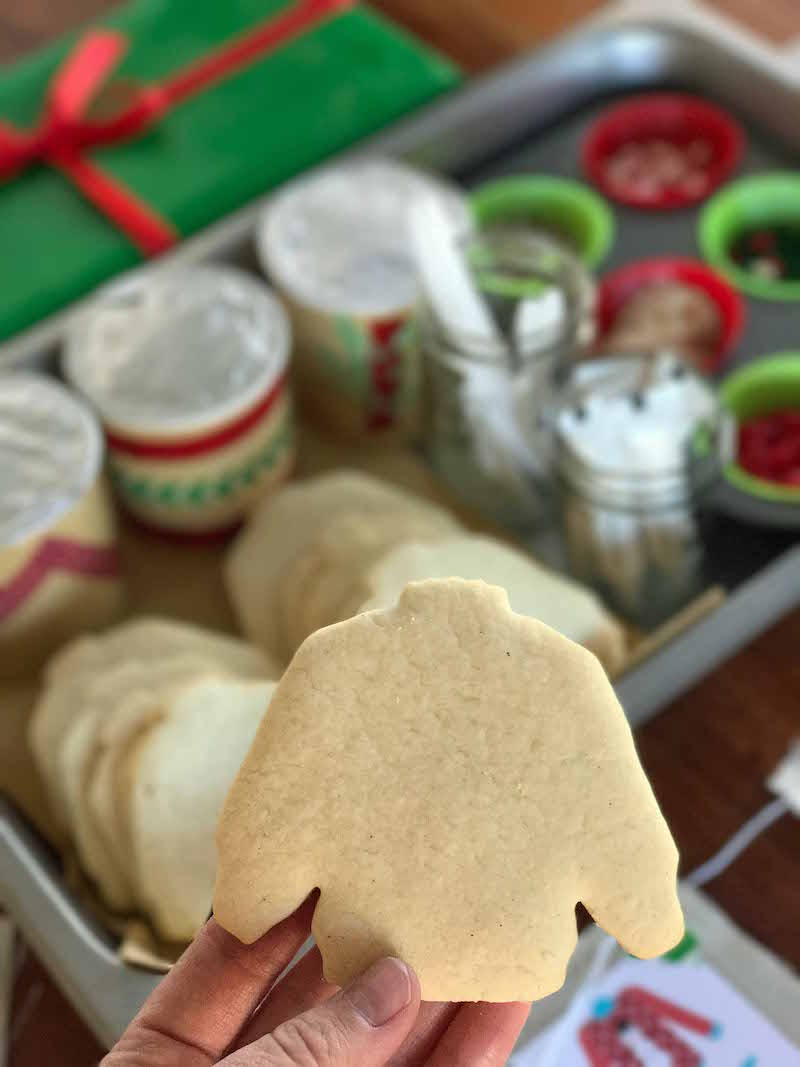 Get ready to decorate ugly christmas sweater cookies