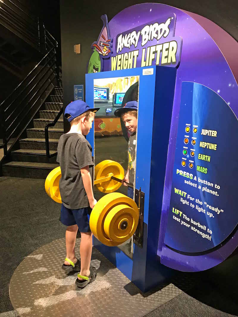 Interactive children's exhibits at Space Center and lots more things to do near Houston with kids